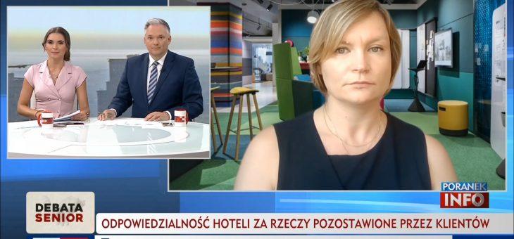 TVP Info – Odpowiedzialność hoteli zarzeczy pozostawione przezklientów